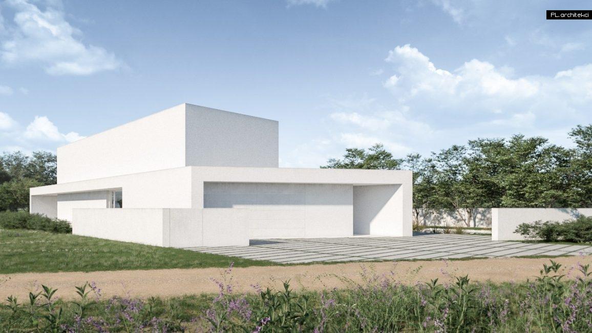 nowoczesny dom jednorodzinny z płaskim dachem w Poznaniu