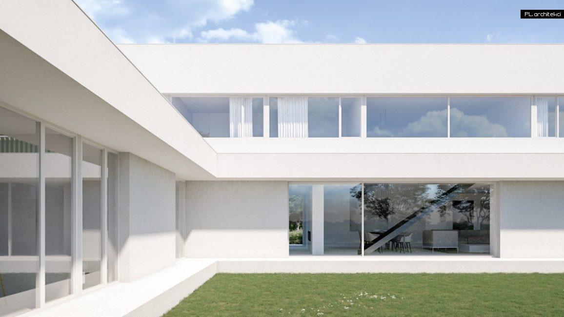 duże okna nowoczesnego domu