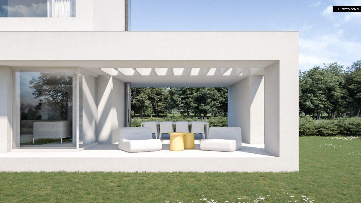 nowoczesny taras domu