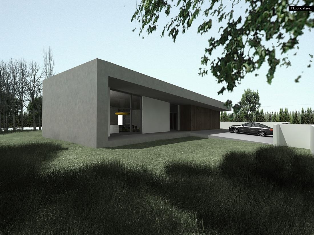 Minimalistyczny dom jednorodzinny   Bydgoszcz