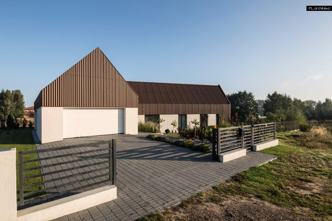 minimalistyczny dom w stylu nowoczesnej stodoły