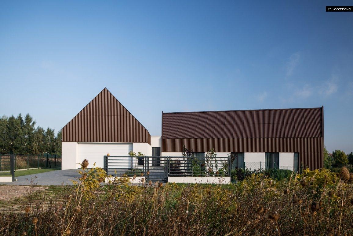 nowoczesna stodoła dwie bryły