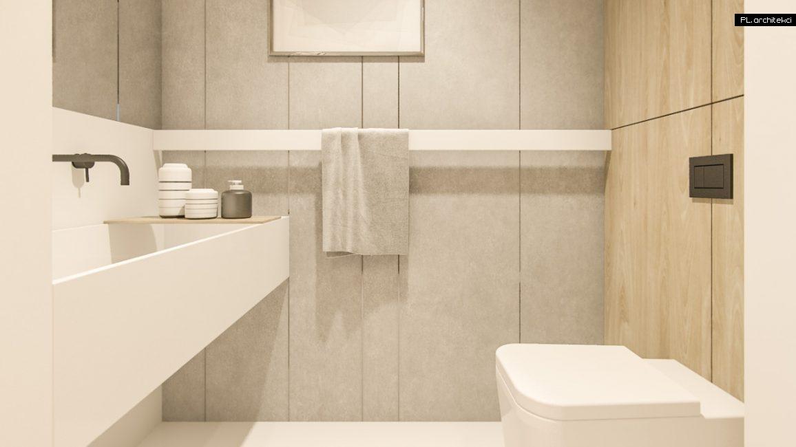 Nowoczesne wnętrze domu jednorodzinnego: łazienka | Lusówko