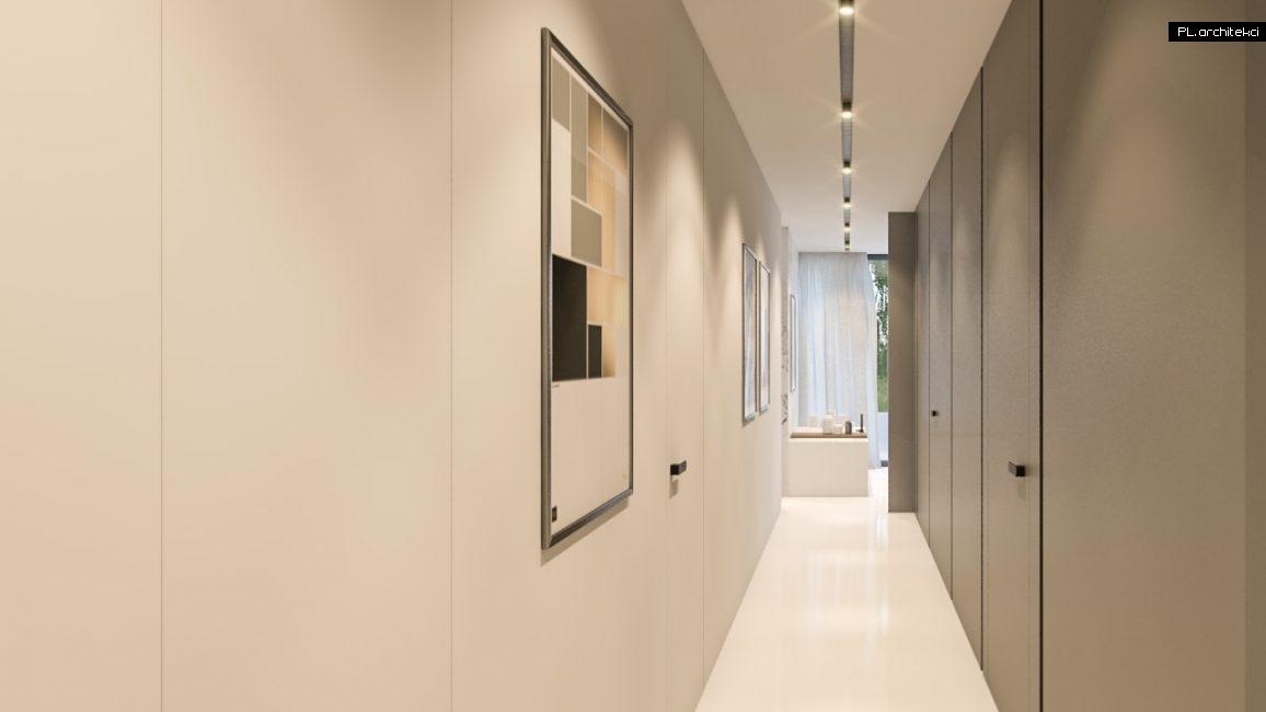 Nowoczesne wnętrze domu jednorodzinnego: korytarz | Lusówko
