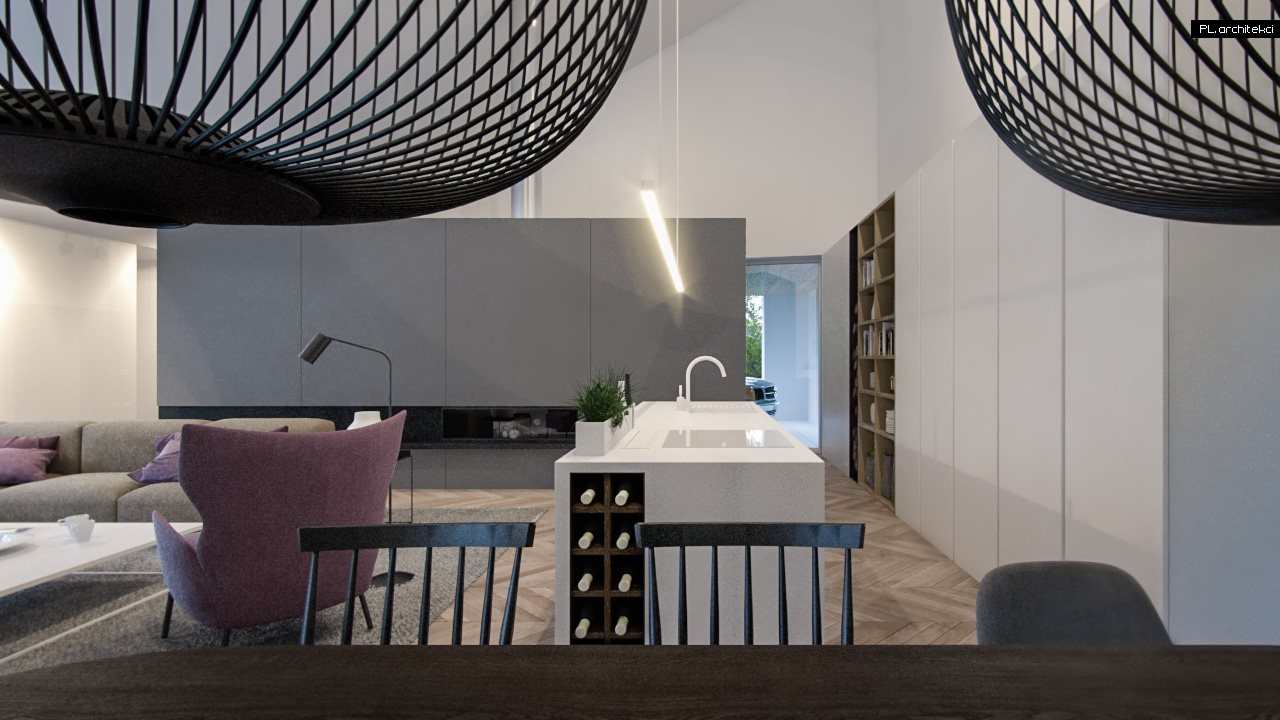 Wnetrza Domu Jednorodzinnego Poz 5 Poznan Architekt Wnetrz