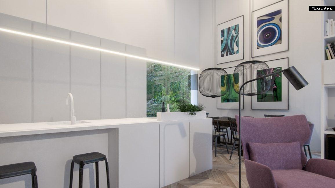Nowoczesne wnętrze domu jednorodzinnego: jadalnia i kuchnia | Poznań