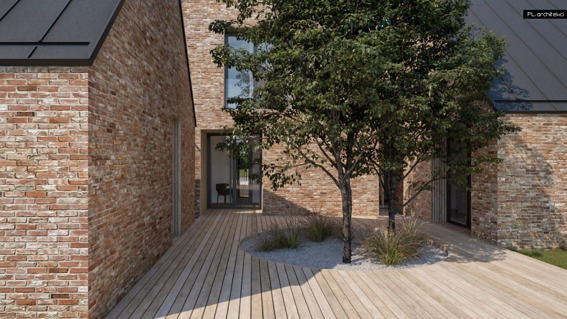 Nowoczesny dom jednorodzinny z cegły rozbiórkowej - trzy nowoczesne stodoły zaprojektowane przez architekta z Poznania