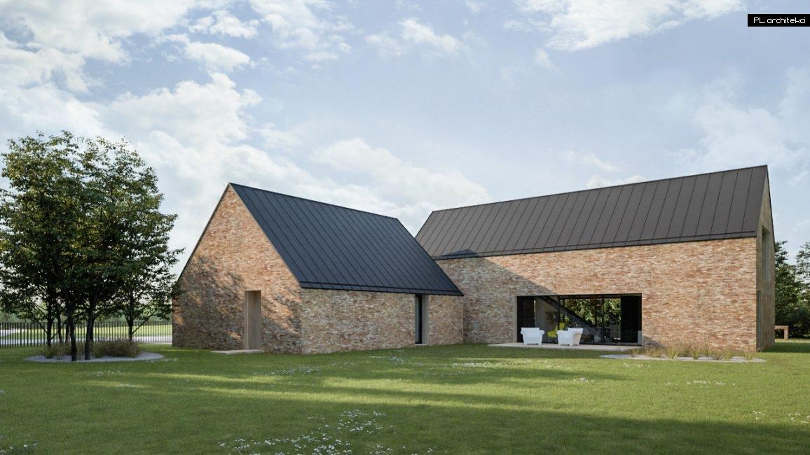 Nowoczesny dom jednorodzinny z cegły