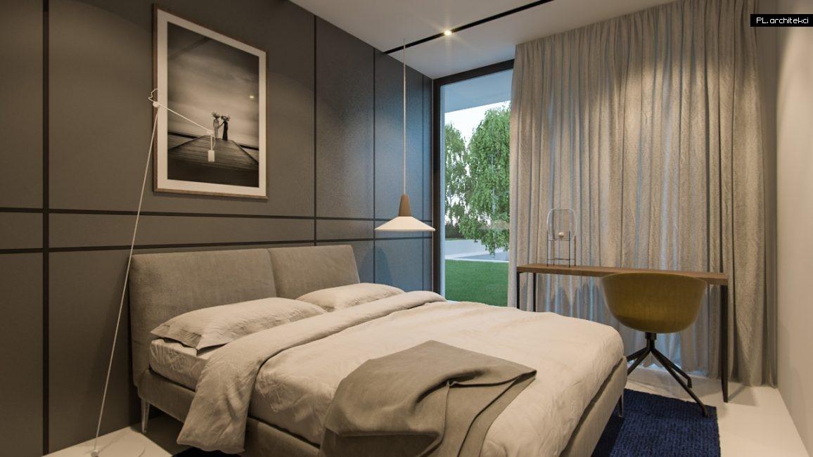 Nowoczesne wnętrze domu jednorodzinnego: sypialnia gości | Lusówko