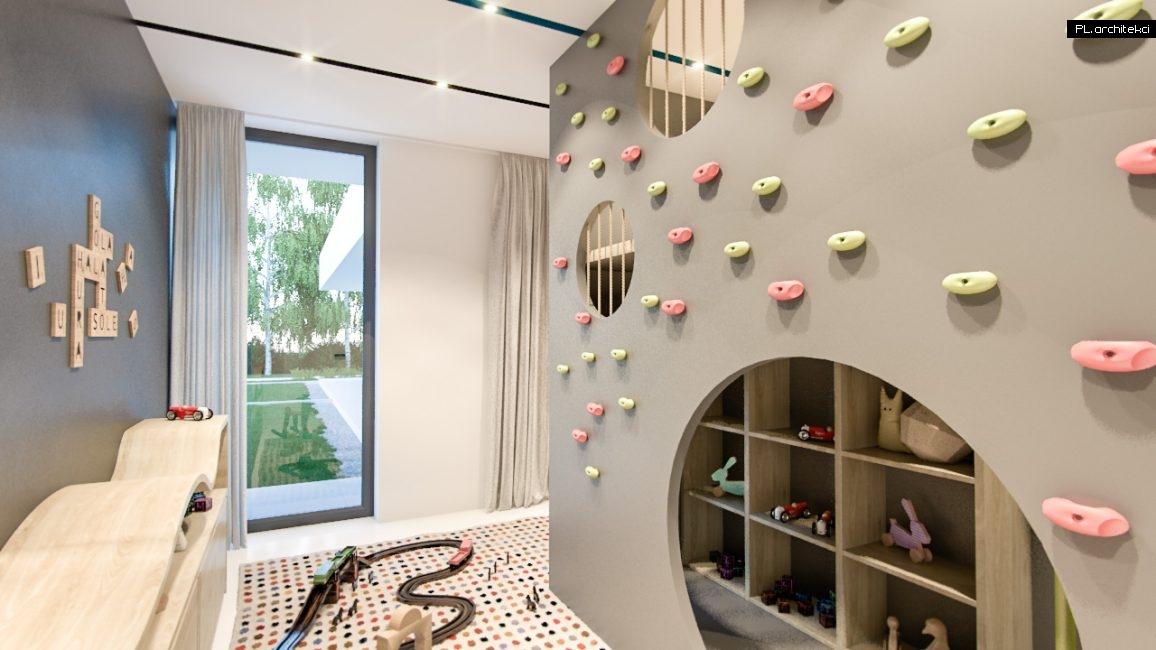Nowoczesne wnętrze domu jednorodzinnego: pokój dziecięcy | Lusówko