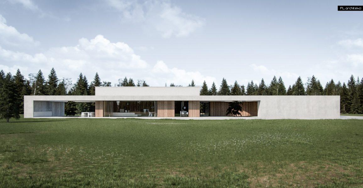 Dom przy lesie | okolice Wrześni