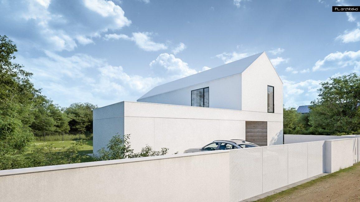 Nowoczesny dom jednorodzinny z białym dachem architekt Poznań