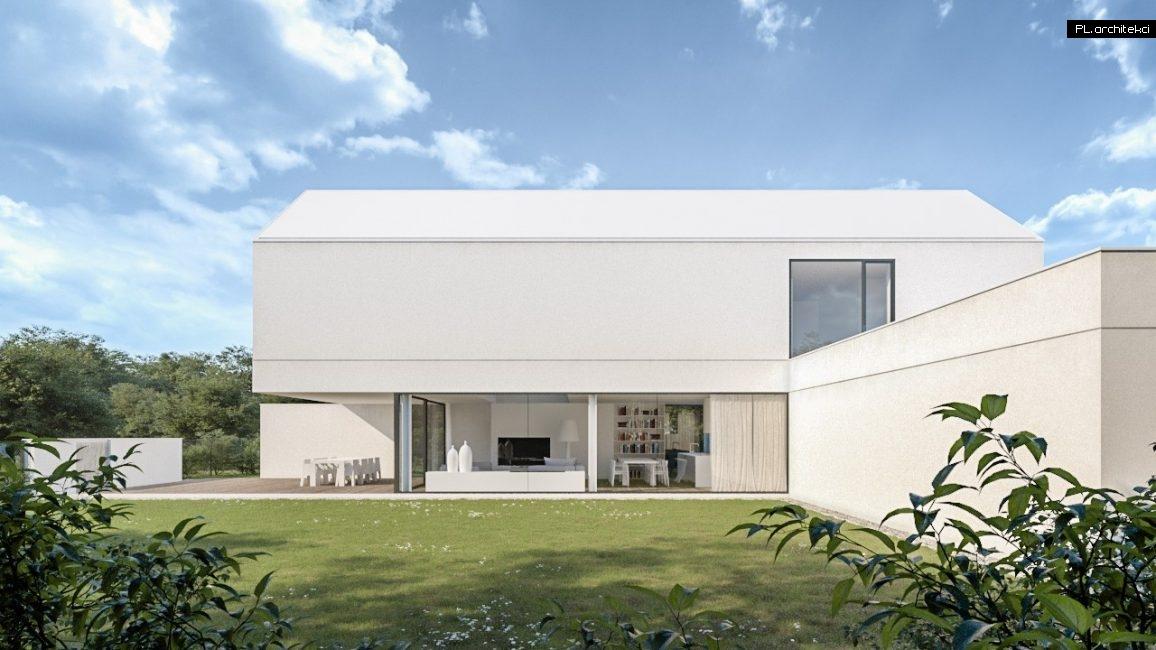 Nowoczesny i minimalistyczny dom jednorodzinny