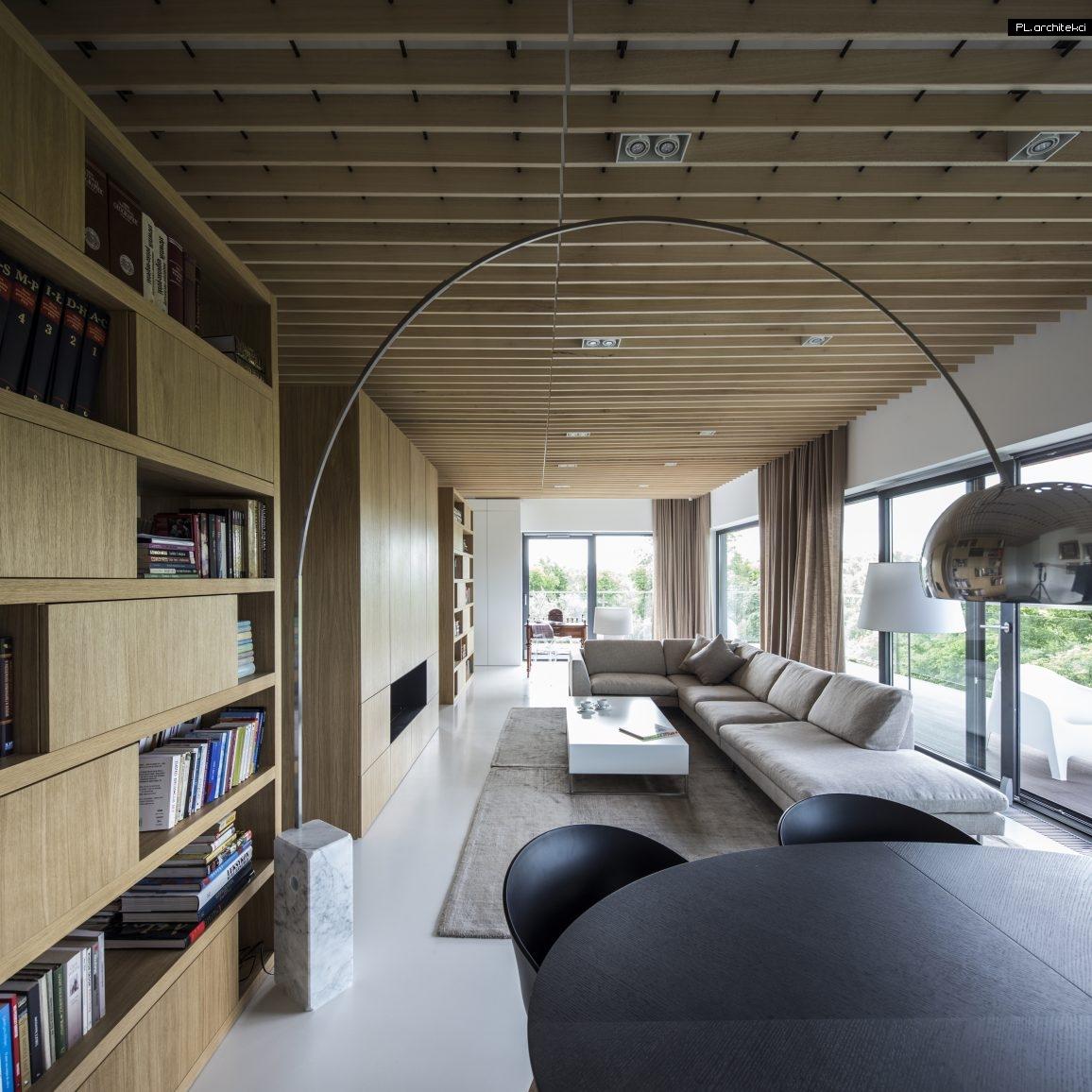 Nowoczesne wnętrze apartamentu: salon z jadalnią | Warzelnia, Poznań