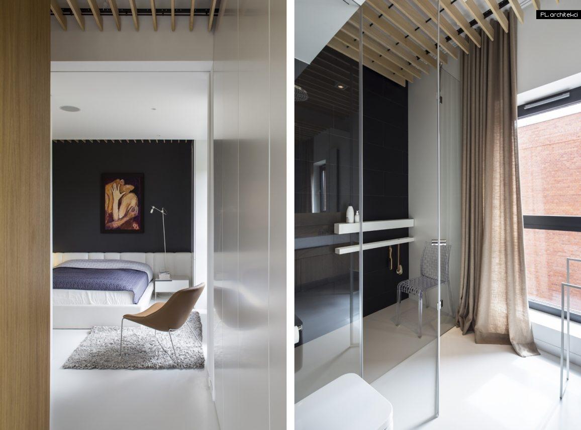 Nowoczesne wnętrze apartamentu: sypialnia, łazienka | Warzelnia, Poznań
