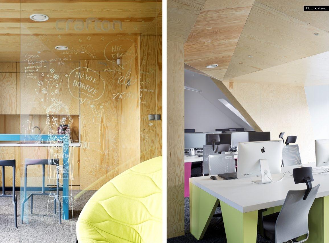 Wnętrze biura agencji interaktywnej CRAFTON