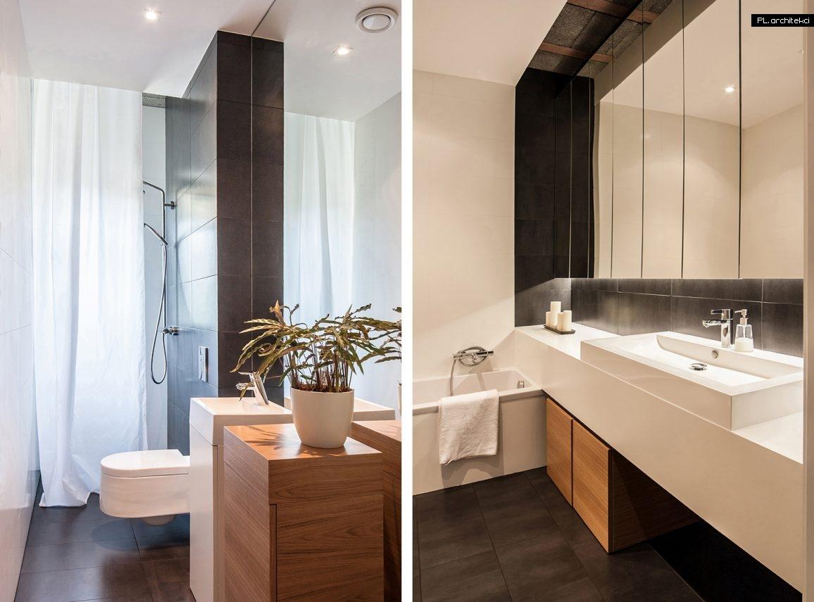 Nowoczesne wnętrze apartamentu: łazienka | Suchy Las