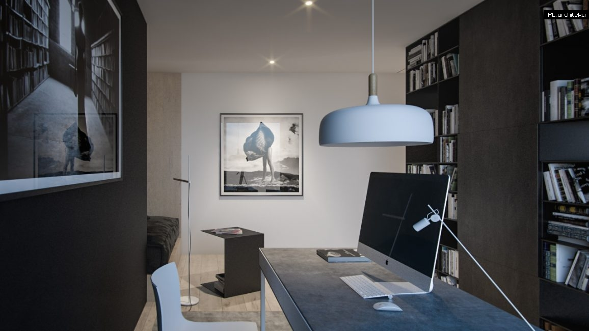 Nowoczesne wnętrze apartamentu: gabinet | Poznań