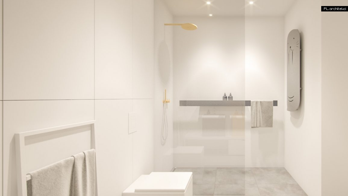 Nowoczesne wnętrze apartamentu: łazienka | Poznań
