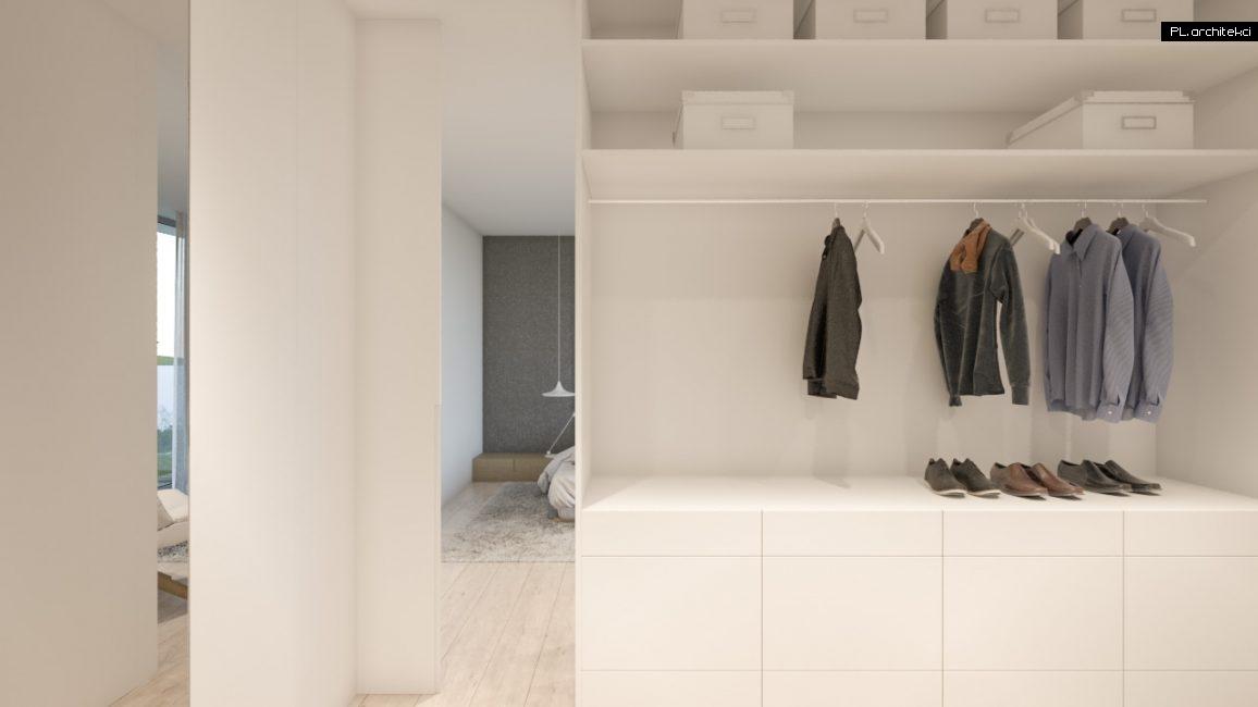 Nowoczesne wnętrze domu jednorodzinnego: garderoba | Poznań