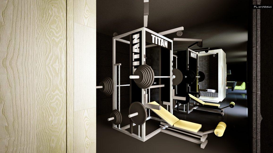 Nowoczesne wnętrze domu jednorodzinnego: siłownia | Puszczykowo