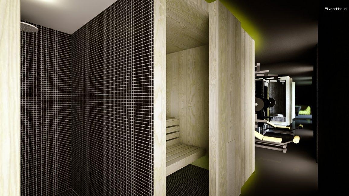 Nowoczesne wnętrze domu jednorodzinnego: sauna | Puszczykowo
