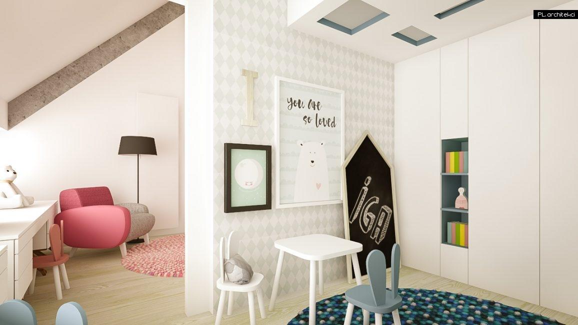 Nowoczesne wnętrze domu jednorodzinnego: pokój dziecięcy | Puszczykowo