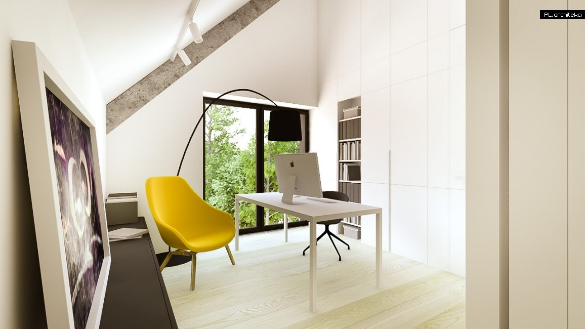Nowoczesne wnętrze domu jednorodzinnego: gabinet | Puszczykowo