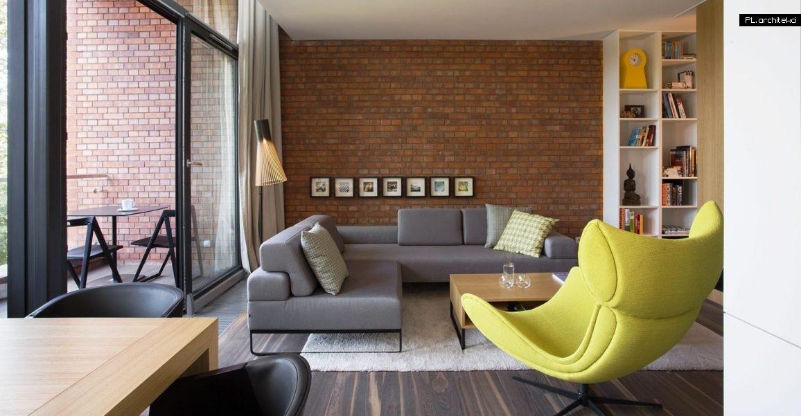 Nowoczesne wnętrze dwupoziomowego apartamentu   Warzelnia, Poznań